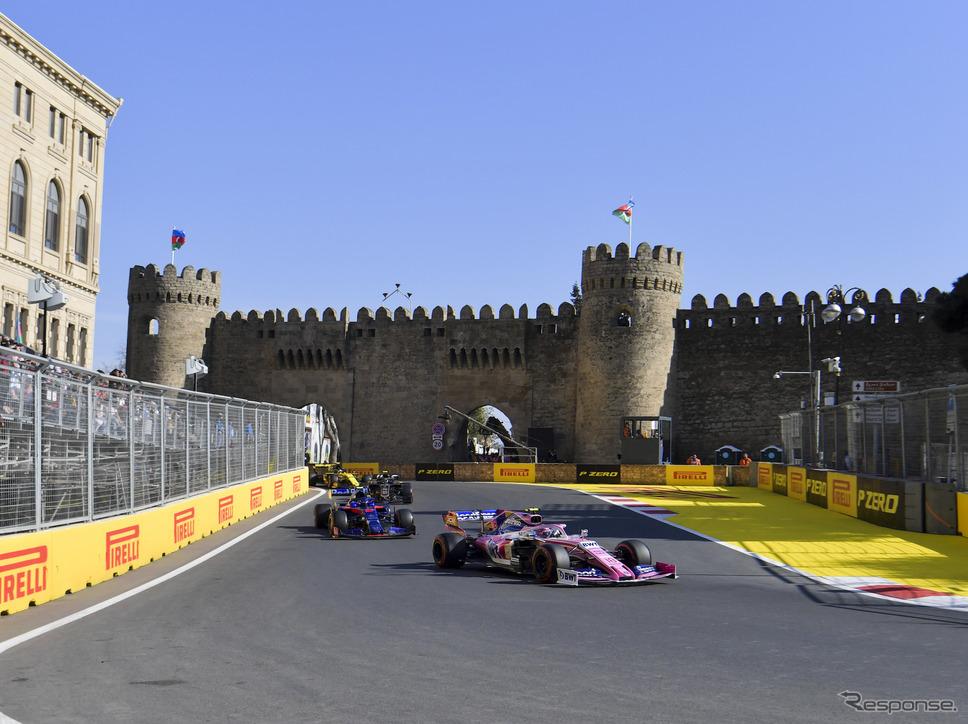 アゼルバイジャンGPも今季F1開幕地候補のひとつか?(写真は2019年の同GP)《写真提供 Pirelli》