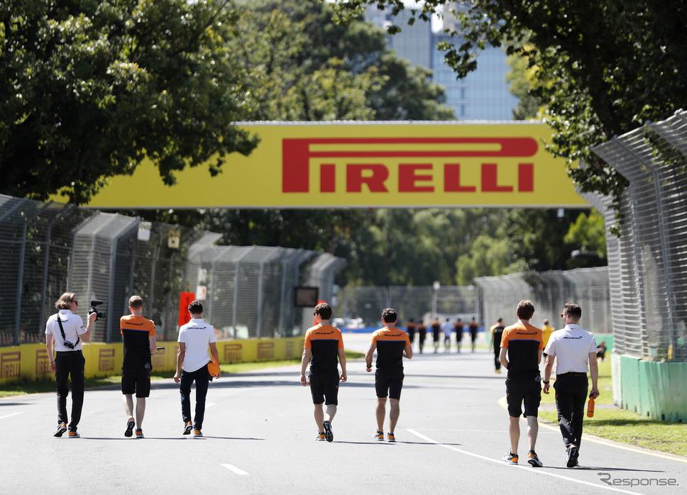 """2020年""""開幕戦""""のはずだったオーストラリアGP、写真はキャンセル決定前日の木曜日(2020年3月12日)。《写真提供 Pirelli》"""