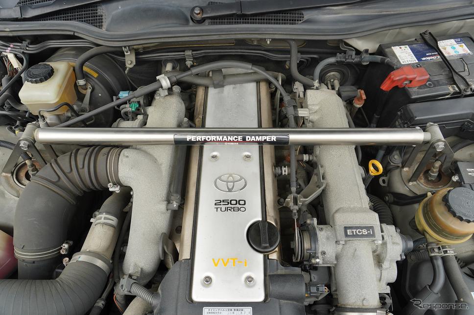 トヨタ『クラウンアスリートVX』(2001年)に搭載されたヤマハのパフォーマンスダンパー《撮影 宮崎壮人》