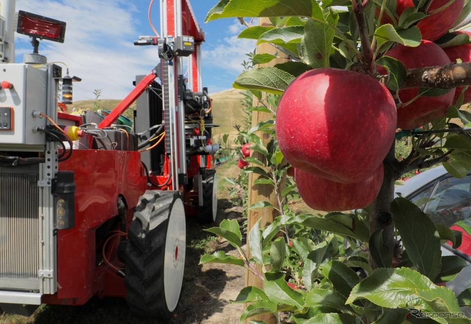 Abundant Robotics社の自動りんご収穫機画像提供:Abundant Robotics