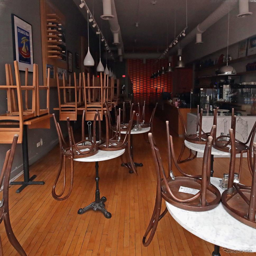 シカゴ郊外、臨時休業の飲食店《photo (c) Getty Images》