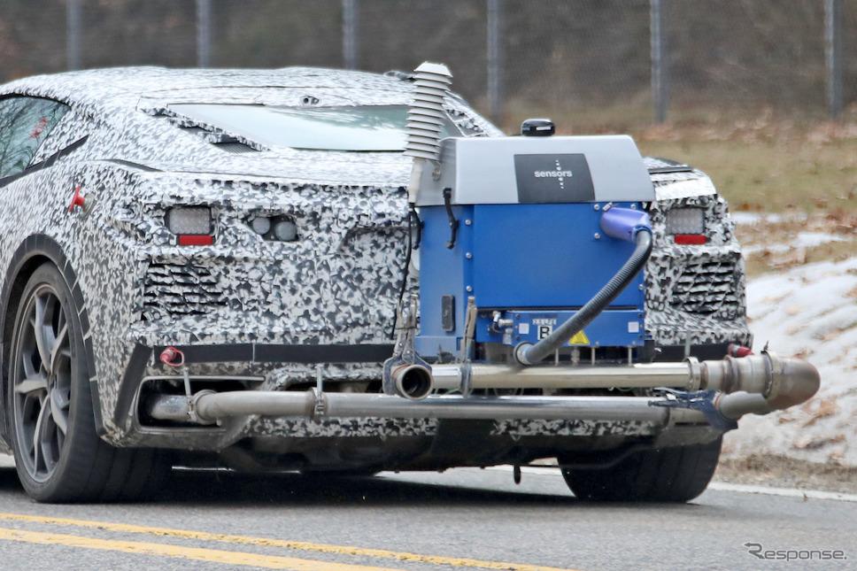 シボレー コルベット PHEV 開発車両(スクープ写真)《APOLLO NEWS SERVICE》