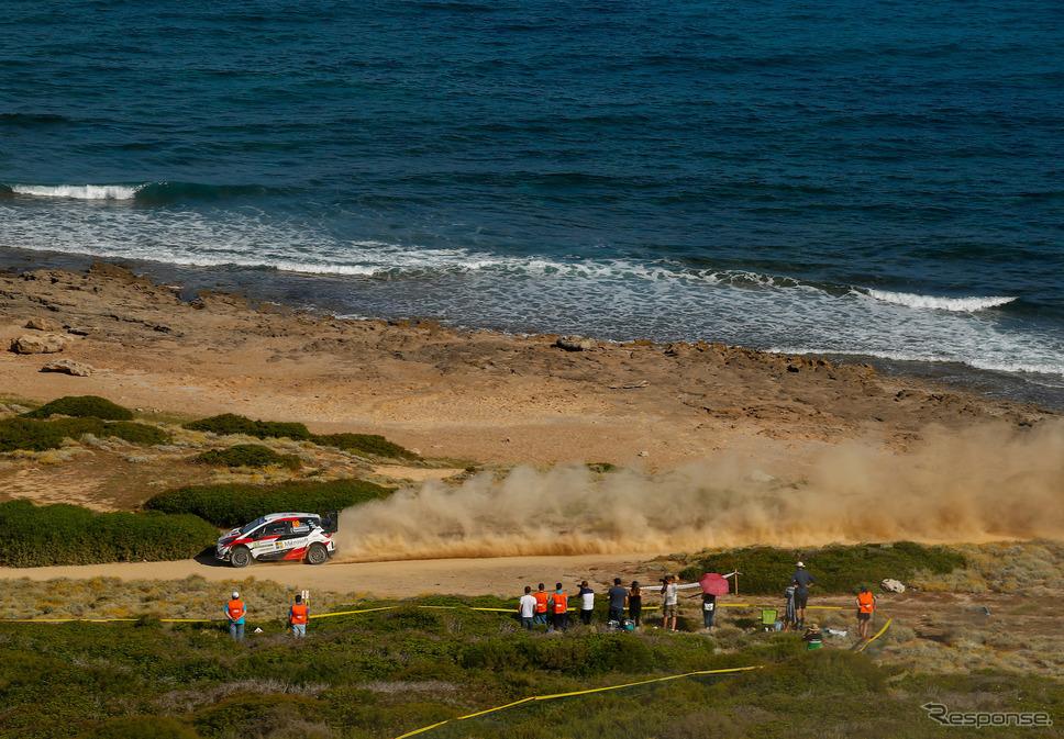 2019年WRCイタリア戦の模様。《写真提供 TOYOTA》