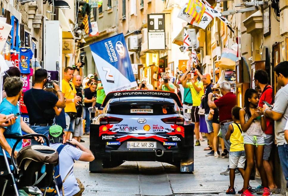2019年WRCイタリア戦の模様。《写真提供 Red Bull》