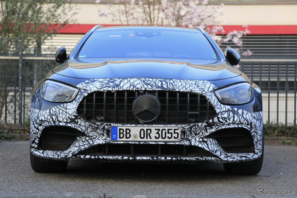 メルセデス AMG E63 ステーションワゴン新型プロトタイプ(スクープ写真)《APOLLO NEWS SERVICE》