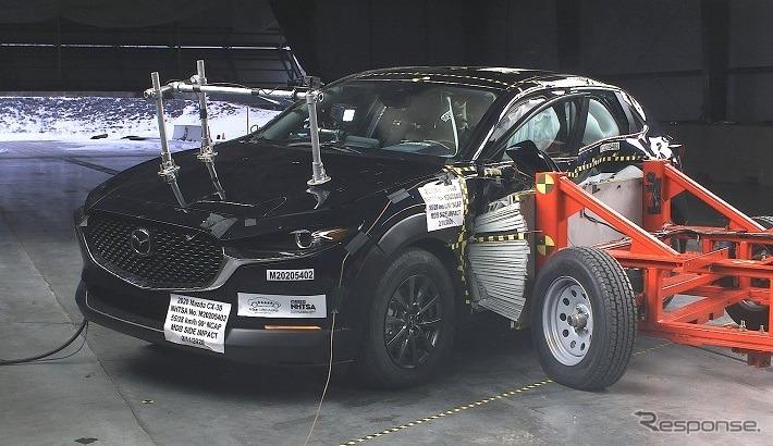 マツダ CX-30 の米NHTSAの衝突テスト《photo by NHTSA》