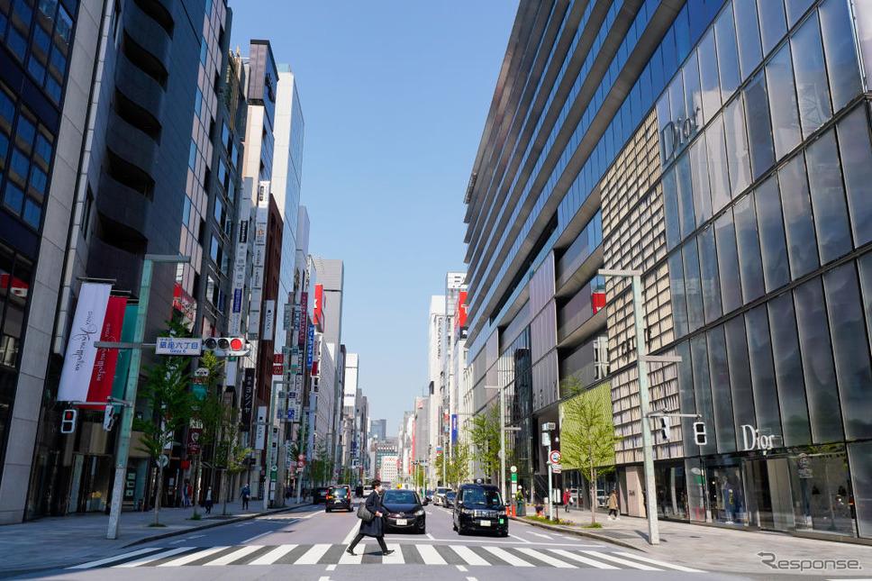 東京銀座、中央通り《photo (c) Getty Images》