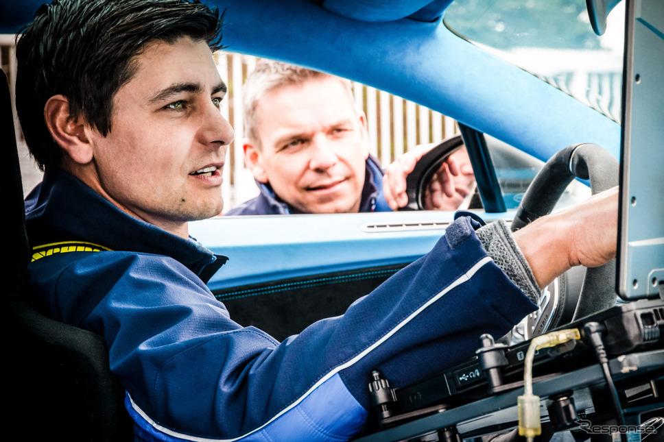 ブガッティの新車開発テスト《photo by Bugatti》