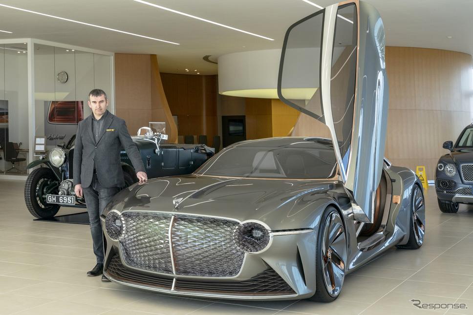 インテリアデザインのトップ、Darren Day氏とEXP 100 GT《Photo by Bentley Motors》
