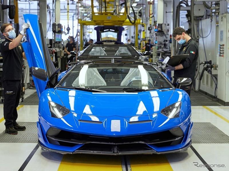 生産を再開したランボルギーニ《photo by Lamborghini》