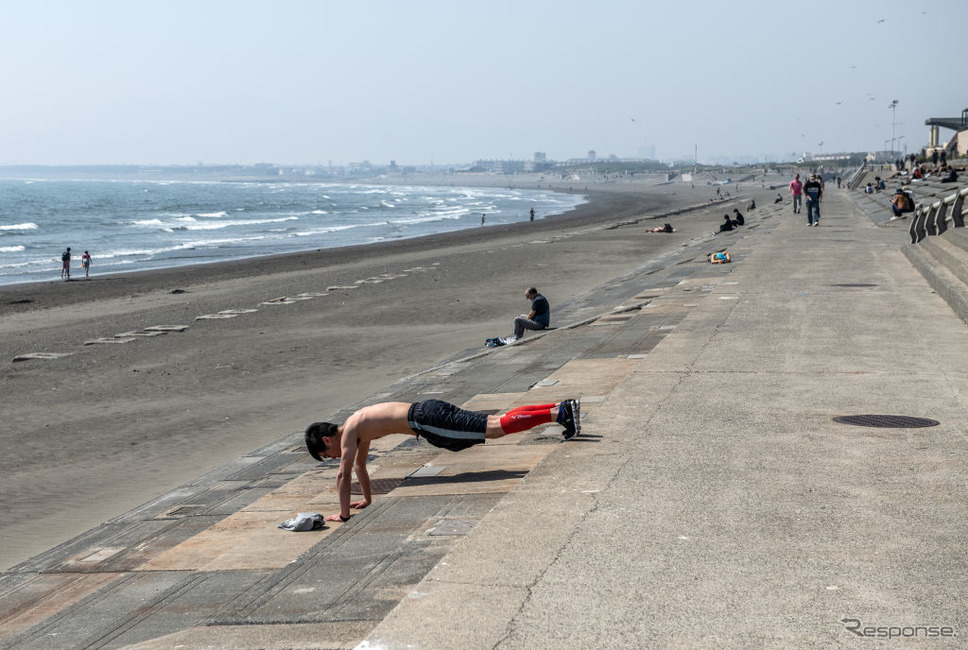 江ノ島海岸(5月2日)《photo (c) Getty Images》