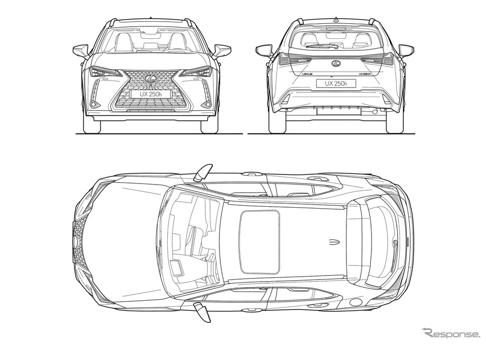 レクサス UX のタトゥーカーのデザインコンテストのテンプレート《photo by Lexus》