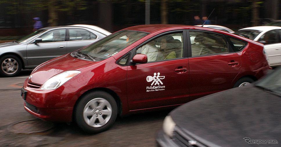 フィラデルフィアのカーシェアリングに登場したプリウス。《photo (c) Getty Images》