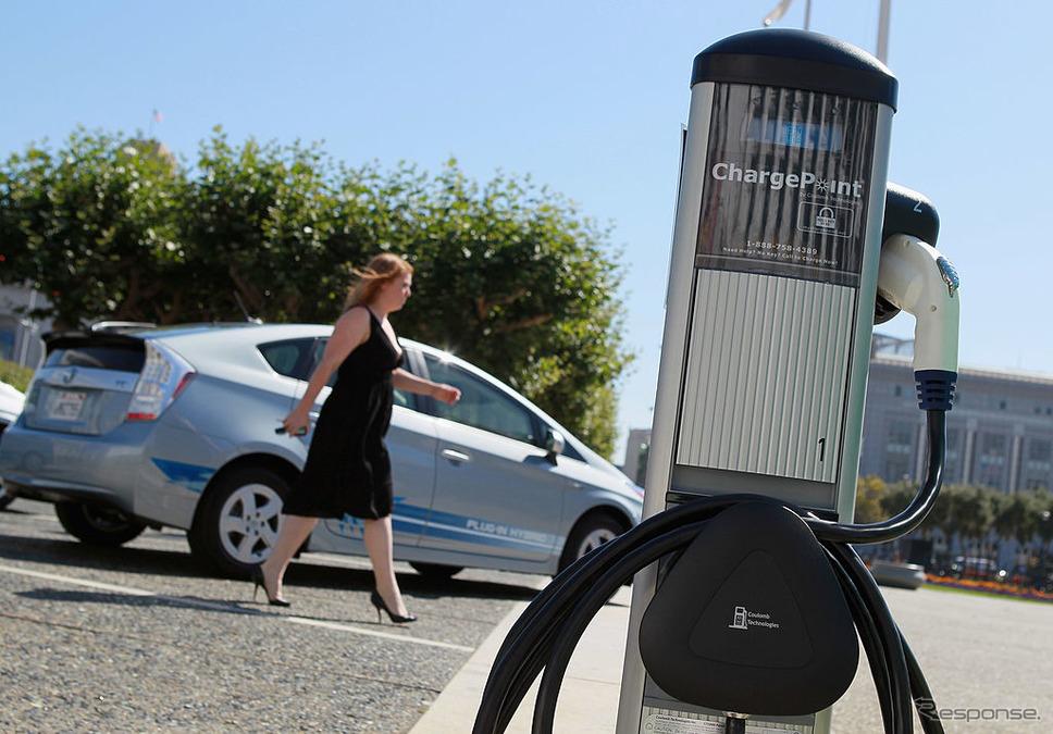 サンフランシスコ市内の充電スタンド(2010年)《photo (c) Getty Images》