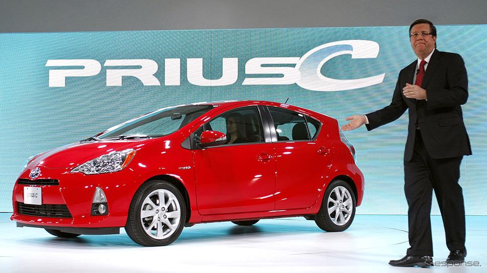 デトロイトモーターショー2012で紹介されたプリウスc。《photo (c) Getty Images》