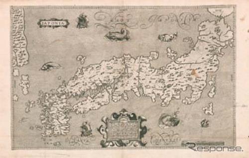 ブランクス/モレイラ 日本図(1617年)《画像:ゼンリン》