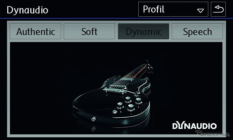 VW ティグアン TSI/TDI R-ライン ディナウディオ プレミアムサウンドシステム サウンド設定ダイナミック画面《写真提供 フォルクスワーゲングループ ジャパン》
