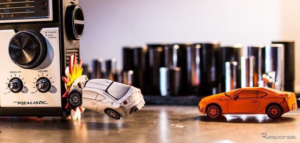 トヨタ・スープラ 新型のペーパークラフト《photo by Toyota》