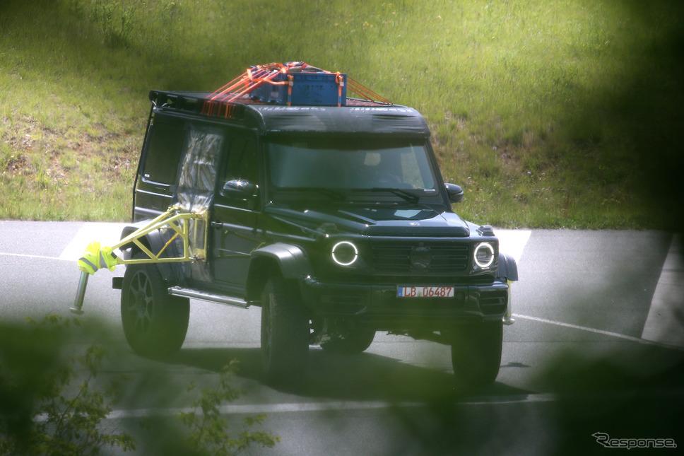 メルセデスベンツ G500/G550 4x4 スクエアード 新型プロトタイプ(スクープ写真)《APOLLO NEWS SERVICE》