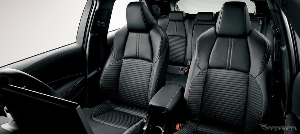 トヨタ・カローラスポーツ・ハイブリッドGスタイルパッケージ スポーツシート《画像:トヨタ自動車》
