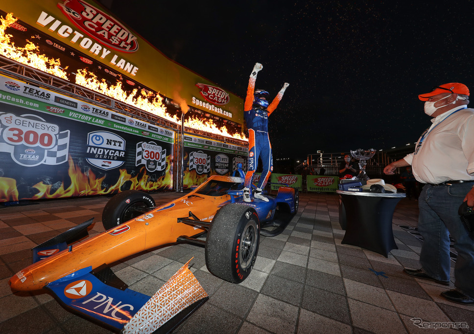 優勝を飾った#9 スコット・ディクソン。《写真提供 INDYCAR》