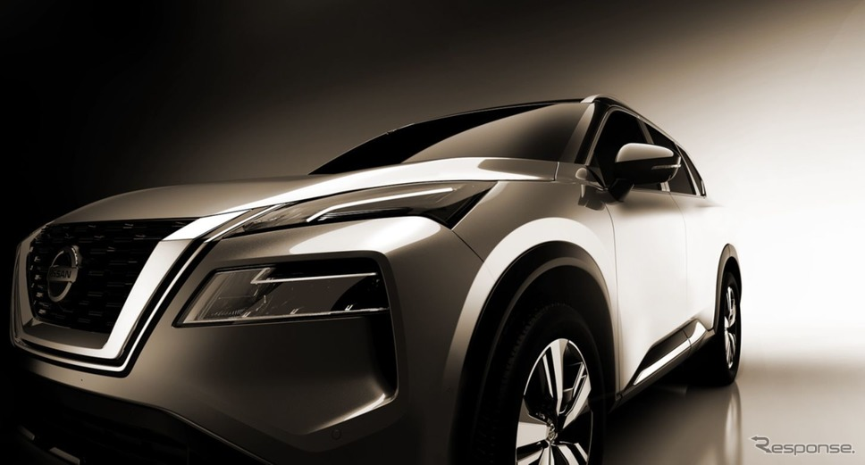 日産 ローグ( エクストレイル に相当)新型のティザーイメージ《photo by Nissan》