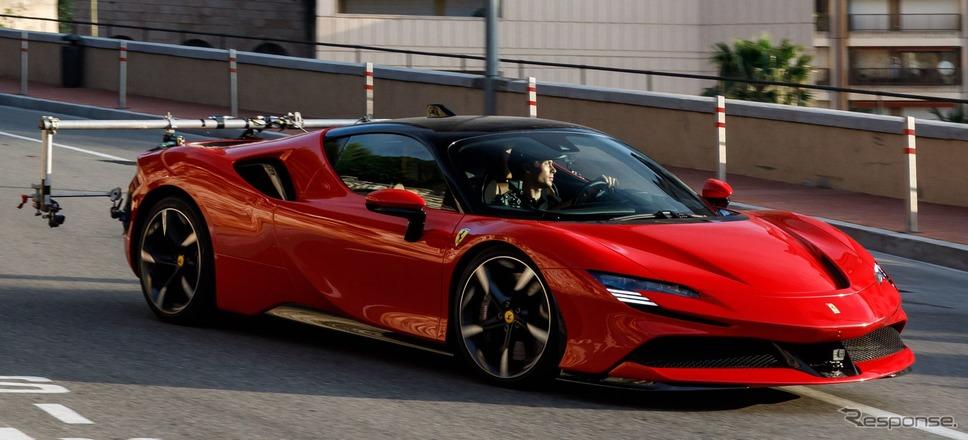フェラーリの新作短編映画『ル・グラン・ランデヴー』の撮影の様子《photo by Ferrari》