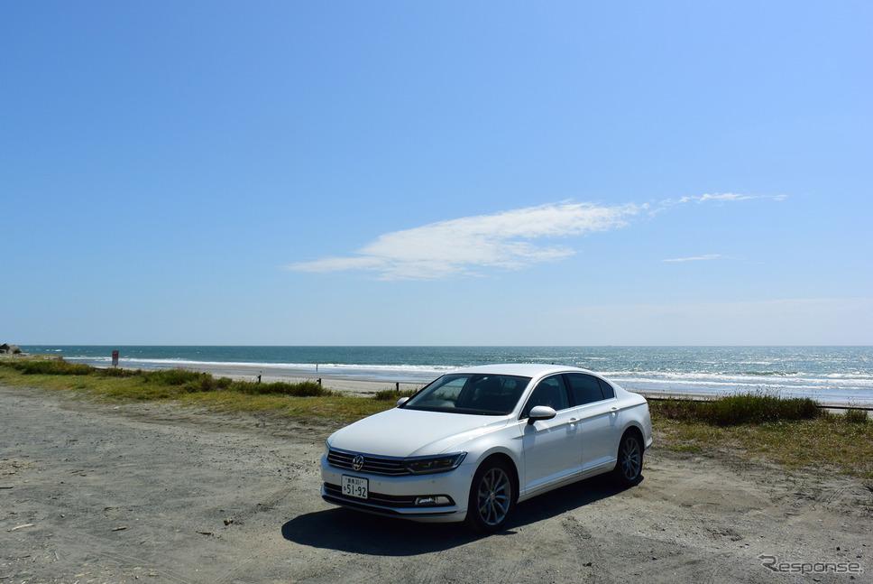 浜松最西部、湖西市の海岸から遠州灘を望む。《撮影 井元康一郎》