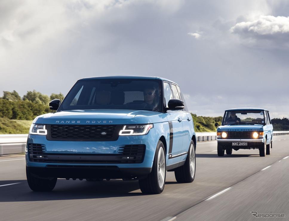 ランドローバー・レンジローバー の50周年記念車「レンジローバー・フィフティ」と初代ランドローバー・レンジローバー《photo by Land Rover》