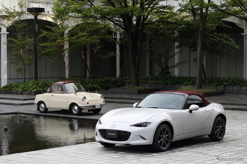 マツダ ロードスター と R360クーペ 100周年特別記念車《写真提供 マツダ》