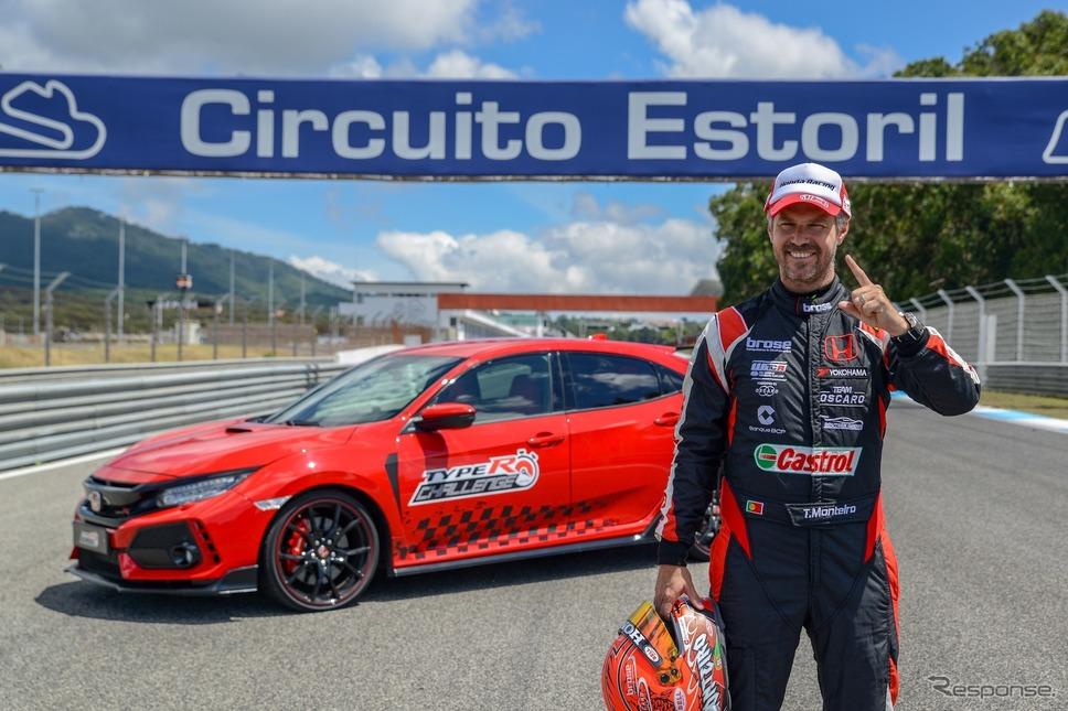 タイプRチャレンジ2018(7月、エストリル、ティアゴ・モンテイロ)《photo by Honda》