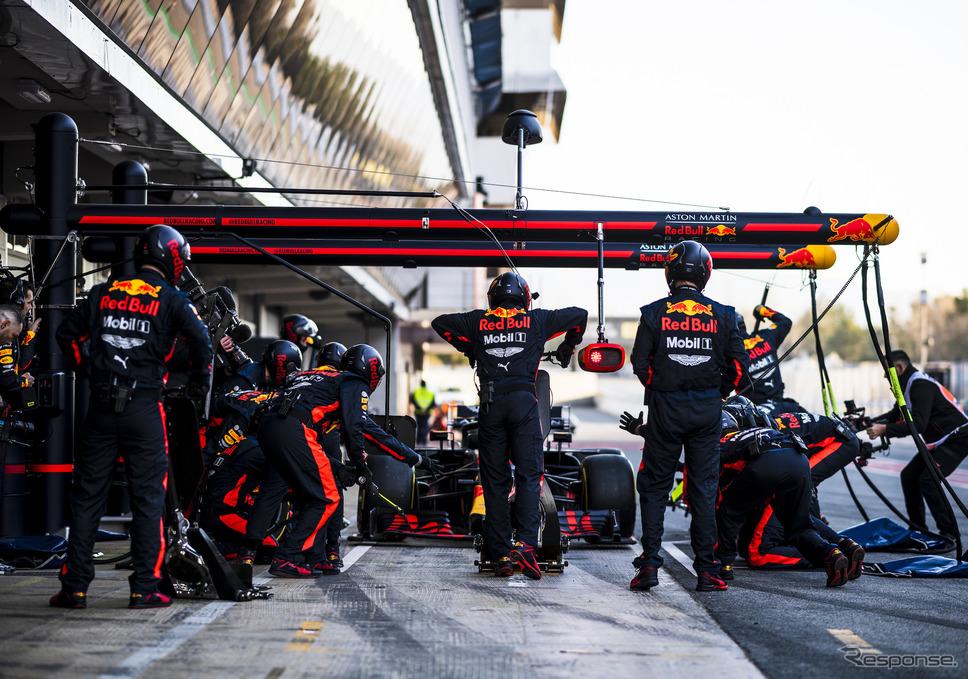 レッドブル・ホンダのテストシーン(今年2月のバルセロナ合同テスト)《写真提供 Honda》