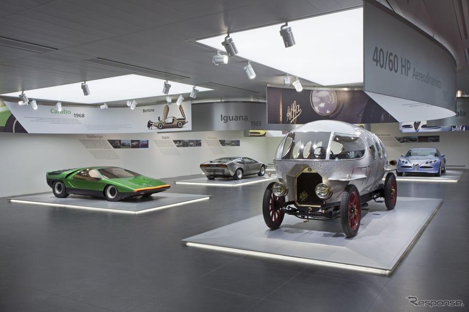 アルファロメオ歴史博物館のコレクション(カラボと40/60 HP アエロダイナミカ)《photo by Alfa Romeo》