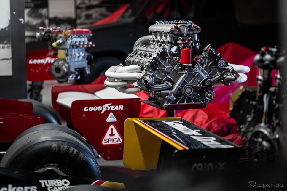 アルファロメオ歴史博物館のコレクション(F1エンジン)《photo by Alfa Romeo》