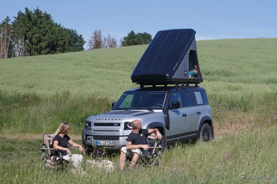 ランドローバー・ディフェンダー 新型の純正ルーフテント《photo by Land Rover》
