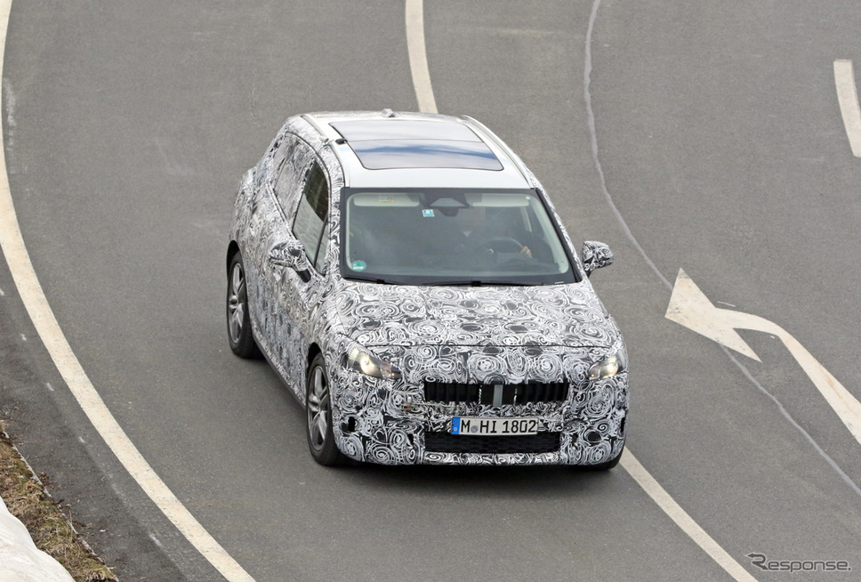 BMW 2シリーズ アクティブツアラー 開発車両スクープ写真《APOLLO NEWS SERVICE》