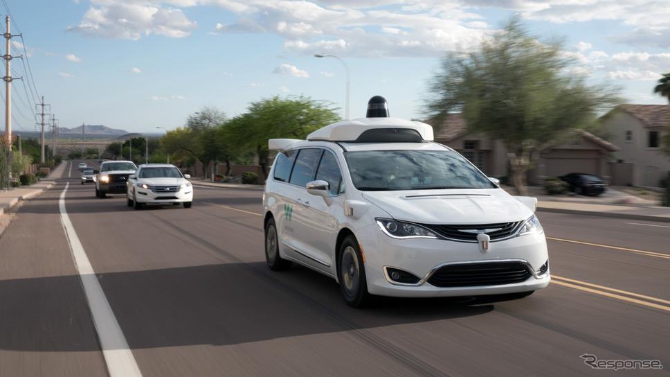 ウェイモの自動運転車の公道テスト《photo by Waymo》