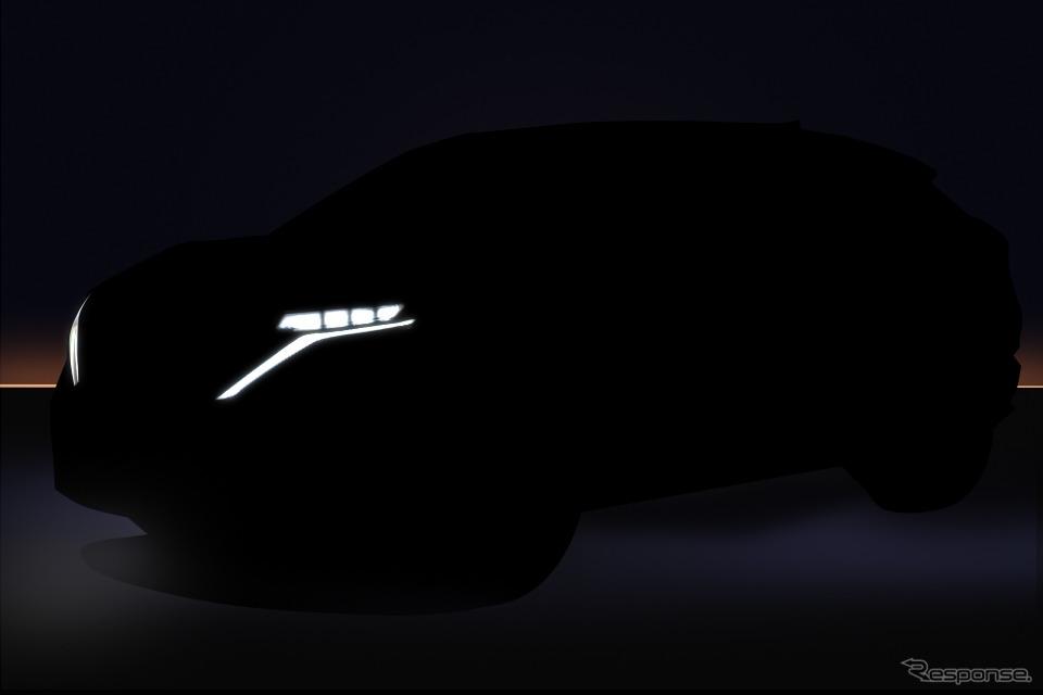 日産アリア市販モデルのティザーイメージ《photo by Nissan》