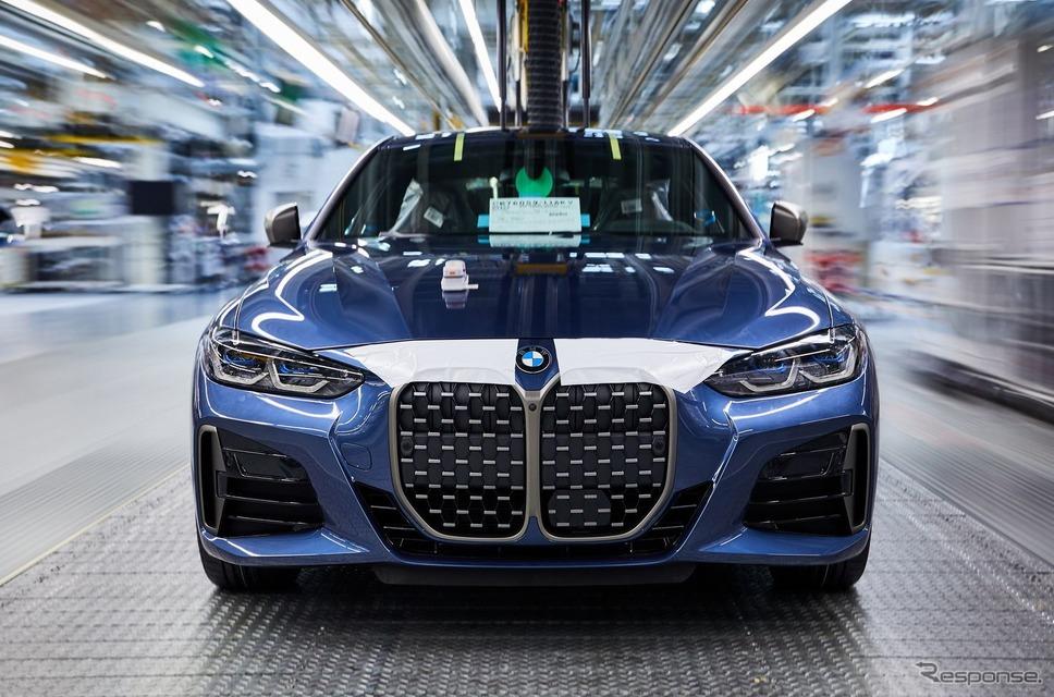 ドイツ・ディンゴルフィンク工場で生産が開始されたBMW 4シリーズ・クーペ 新型《photo by BMW》