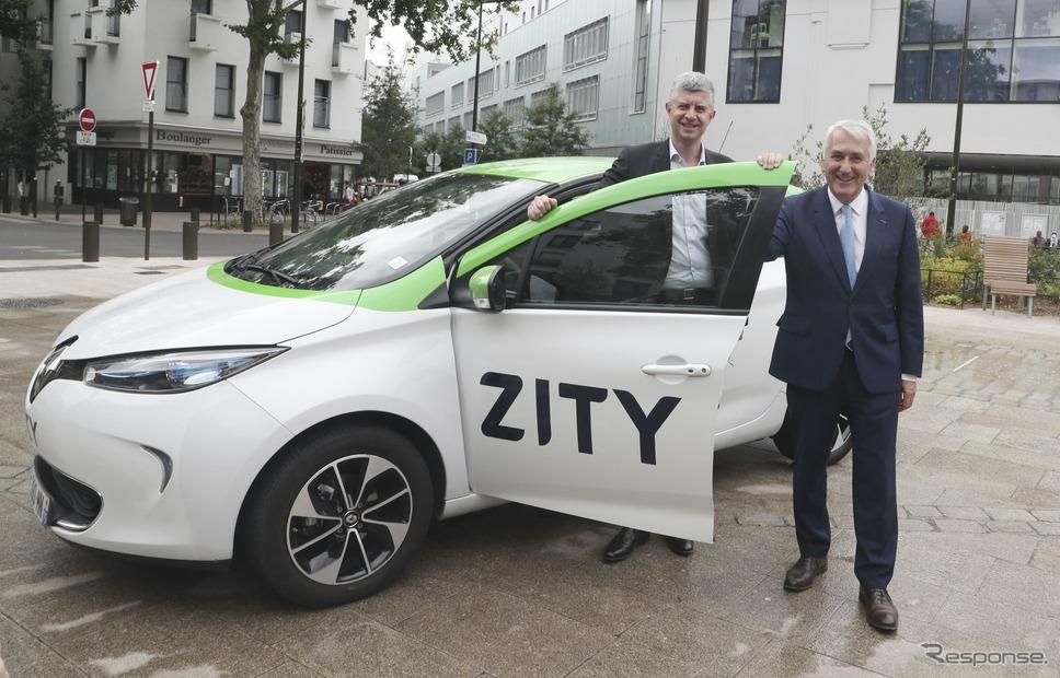 ルノーのEVのみによるカーシェアリングサービス「ZITY」《photo by Renault》