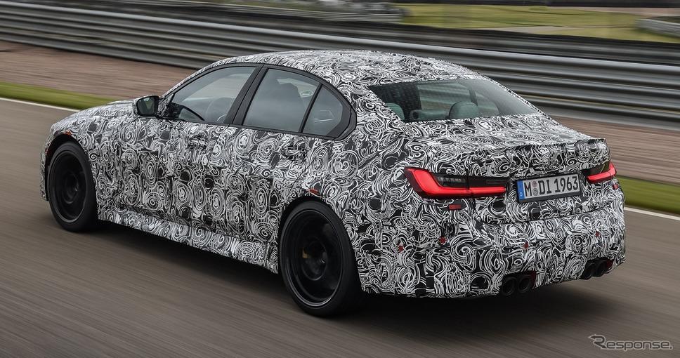 BMW M3セダン 次期型のプロトタイプ《photo by BMW》