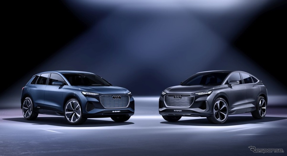 左:Q4 e-tron concept、右:Q4 Soprtback e-tron cncept≪Photo by Audi≫