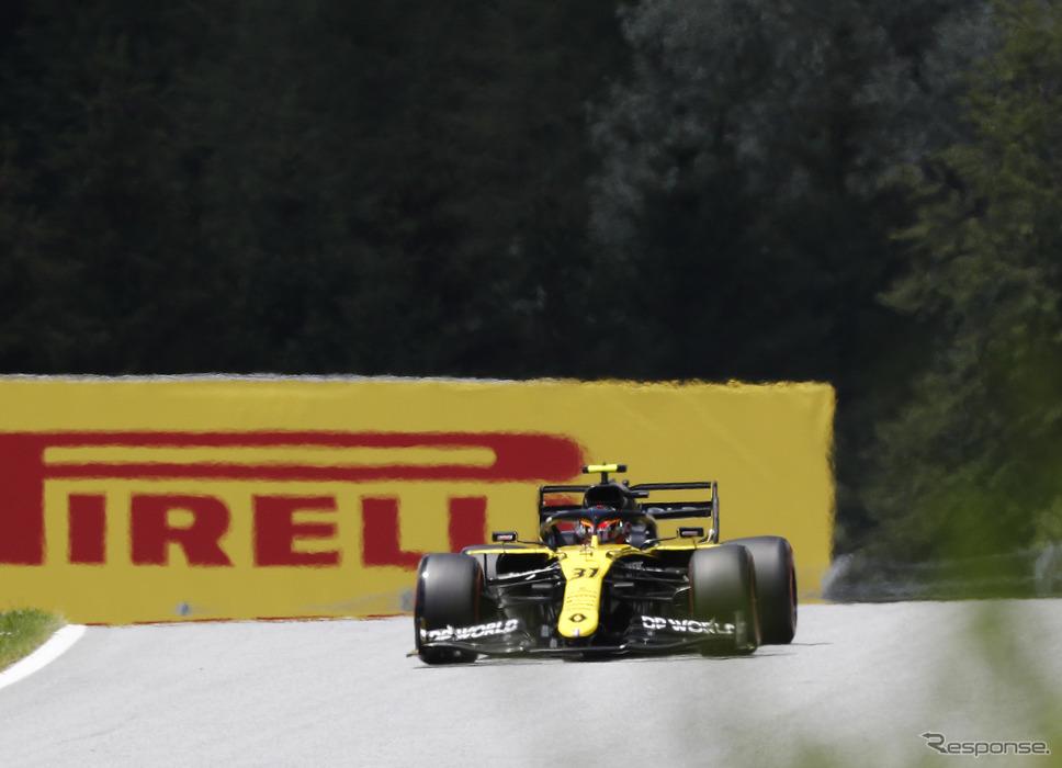 2020年シーズンのルノーF1マシン(#31 E.オコン、開幕戦オーストリアGP)《写真提供 Pirelli》