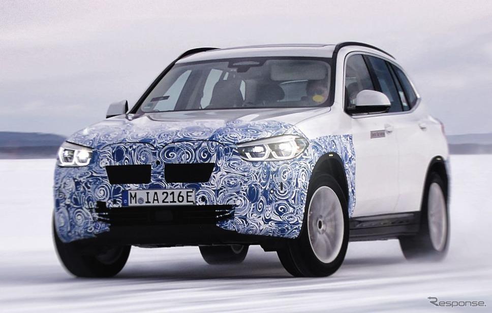 BMW iX3 のプロトタイプ《photo by BMW》