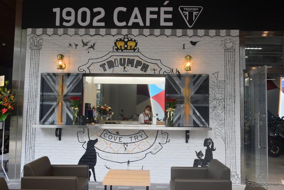 1階にオープン予定のカフェ《写真撮影 釜田康佑》