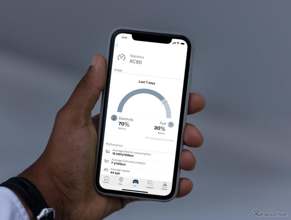 ボルボカーズのスマートフォンアプリ「Volvo on Call」《photo by Volvo Cars》