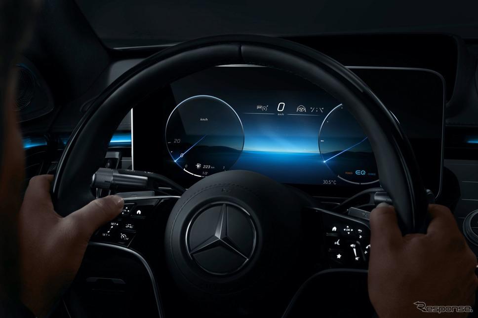 メルセデスベンツ Sクラス 次期型の新開発「3Dドライバーディスプレイ」《photo by Mercedes-Benz》