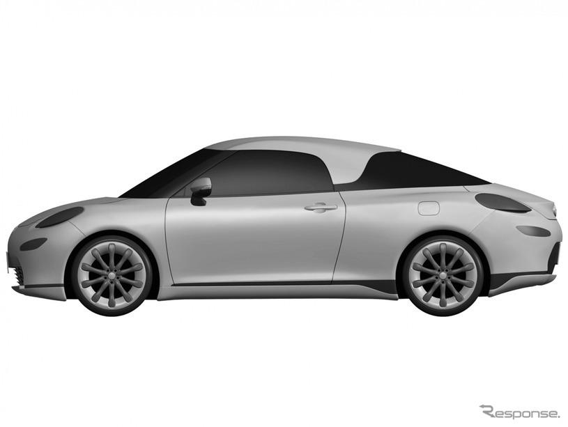 トヨタの新型ミッドシップ車と思われる特許画像《APOLLO NEWS SERVICE》