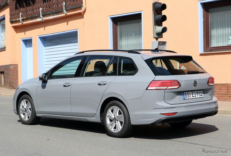 VW ゴルフ ヴァリアント 開発車両 スクープ写真《APOLLO NEWS SERVICE》
