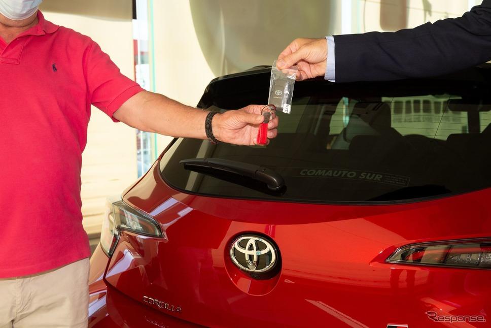 トヨタの欧州300万台目のハイブリッド車となった カローラ GR SPORT 新型《photo by Toyota》